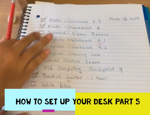 How to Set up Your Desk Part 5